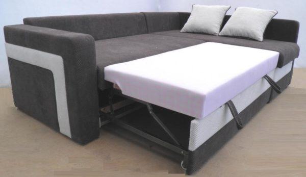 кутовий диван розкладений вигляд